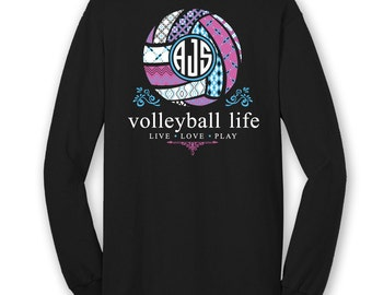 Volleyball t shirt etsy for Volleyball custom t shirts