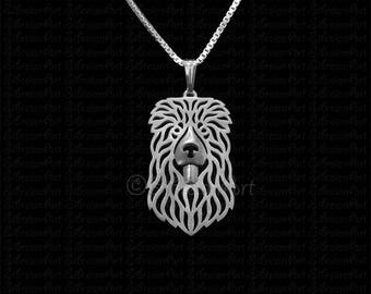 Caucasian Ovcharka  jewelry - sterling silver pendant and necklace