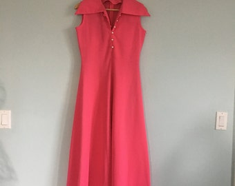 Beautiful 1960's Hot Pink A-Line Dress