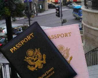 Pink Petals &Black Passport Set of 2