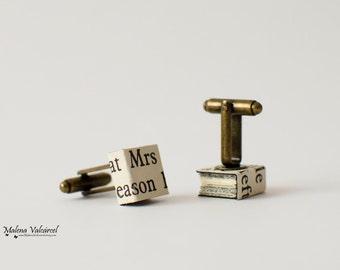 Cufflinks - Miniature Books Cufflinks - Fathers Day Cufflinks - Groom