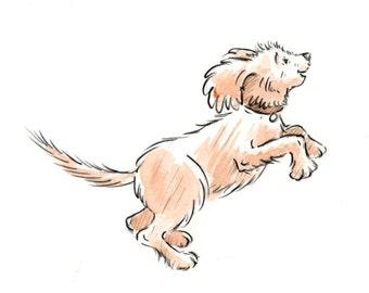 Toby Jumping - Original Drawing