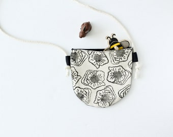 Monochromatic Floral Toddler Purse