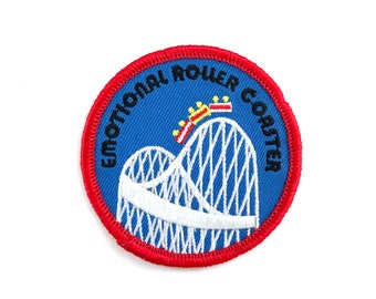 2.5 Inch Iron On Patch: Emotional Roller Coaster