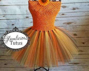 ThanksGiving tutu dress | Fall Tutu dress| Autumn tutu dress| Newborn- Child 8/10 listing
