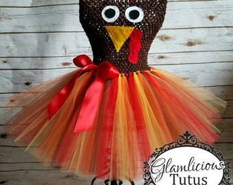 Turkey tutu dress| Thanksgiving Tutu dress | Fall tutu dress| Newborn- child 8/10 size