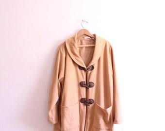 Tan Fleece 90s Toggle Jacket