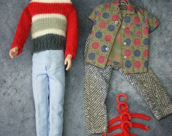 1960's Ken Doll with Campus Hero Outfit and Shoes Plus More