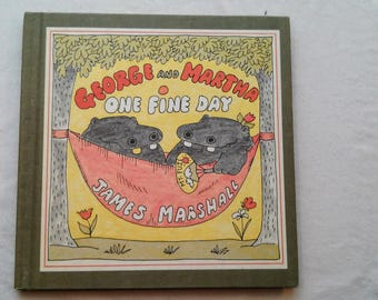 """Vintage 70's Hardcover Kids Book, """"George and Martha: One Fine Day"""" by James Marshall, 1978."""