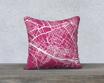 Florence Map Pillow Cover