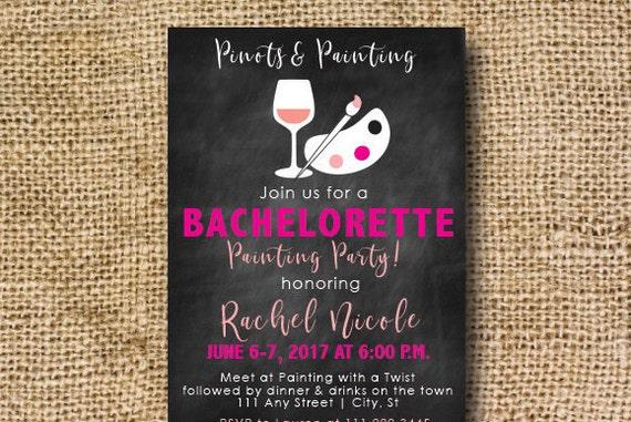 bachelorette invitation