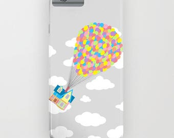 Disney and Pixar Up! on Gray Sky, iPhone SE, iPhone 6, iPhone 6S, Galaxy S8, iPhone 6 Plus, iPhone 6S Plus, iPhone 7, iPhone 7 Plus
