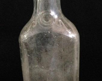 Vintage 1930 Duraglass-Medicine-Bottle Alton, Illinois.   (LDT5)