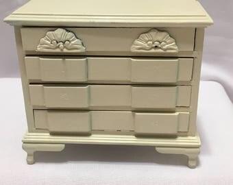 "Dollhouse Miniature 1"" Cream Dresser (AP)"
