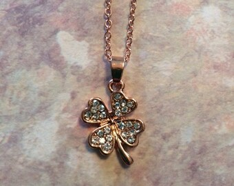 Four Leaf Clover - Four Leaf Clover Necklace - Four Leaf Clover Jewelry - 4 Leaf Clover Necklace - Clover Necklace - Clover Jewelry - Clover
