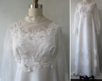1960s wedding dress | 60s wedding dress | vintage 1960s wedding dress | vintage wedding dress | medium | The Margaret Ann Wedding Dress