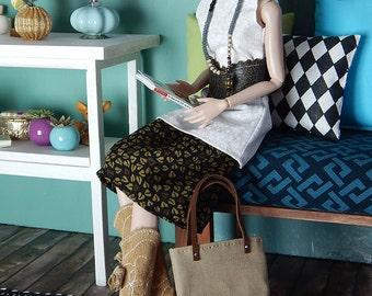 "Trendy shopper - fashion doll bag for Fashion Royalty, FR2, Poppy Parker, NuFace and other 12"" fashion dolls"