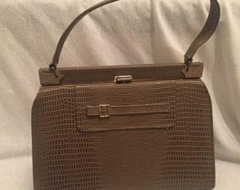 1970 Olive Green Top Handle Handbag
