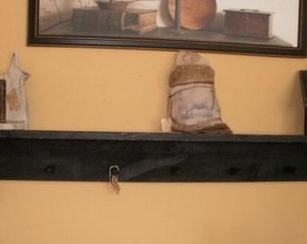 Wall Shelf  / pegs / plate holder