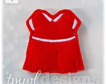 """Orphan Red Dress Feltie Digital Design File - 1.75"""""""