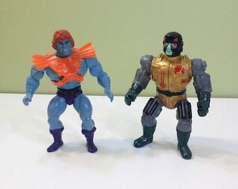 Faker and Blast Attak Masters of the Universe MOTU Blue He Man Skeletor She Ra GreySkull Cartoon Movie Action Figure Lot of 2 1980s 80s