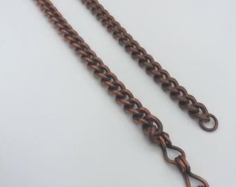 Vintage His and Hers Copper Curb Link Bracelet Set