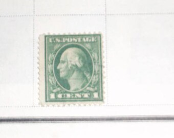 collectable us postage stamp George Washington 1 cent