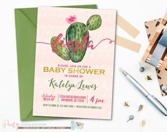 fiesta baby shower invitation baby shower invitation cactus baby shower invitation fiesta invitation