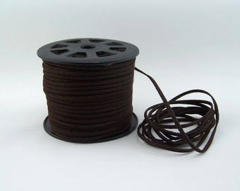Espresso Brown Faux Suede Cord 20 Feet USA Seller