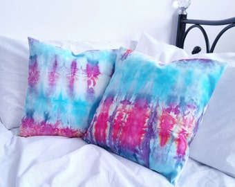 Hippie Cushion Cover x2, Tie Dye Bedding, Hippie Bedding, Boho Pillows Set of Two