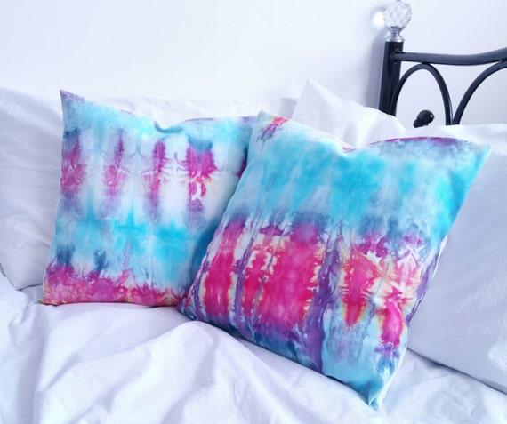 hippie cushion cover x2 tie dye bedding hippie bedding boho pillows