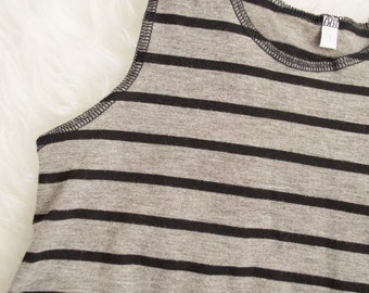 2-3 years thin black and grey stripe. pull on summer romper. Ready to ship. Little Lapsi