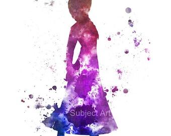 Anna, Frozen ART PRINT illustration, Princess, Disney, Wall Art, Home Decor, Nursery