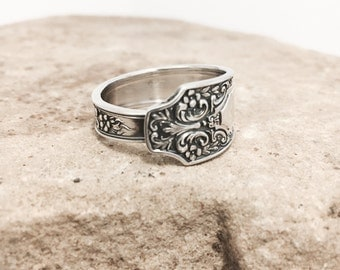 Sterling Silver Spoon Ring circa 1929 - Unique Handmade Jewelry