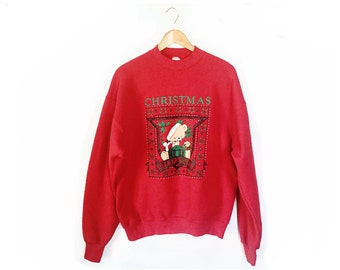Christmas Sweatshirt tacky Christmas  Ugly Christmas Sweater large xl  Tacky Christmas Sweater