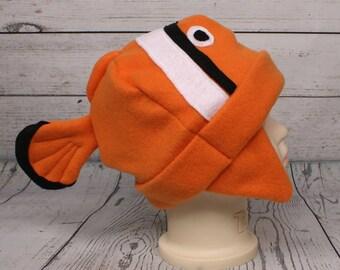 Adult Clown Fish Fleece Hat