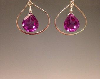 """Purple Quartz Earrings - Purple earrings - Easter jewelry - Color change earrings - Alexandrite Quartz -sterling earrings - """"Violet"""""""