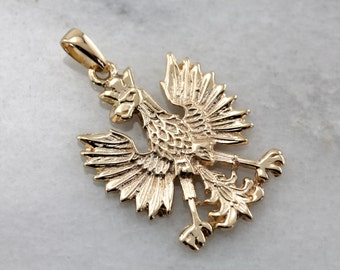 Polish eagle pendant etsy polish eagle pendant in yellow gold wn27k9 n mozeypictures Images