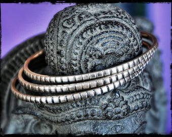 Berber Silver Bangle Bracelets - Berber Bracelet - Ethnic Tribal Bangle Bracelet
