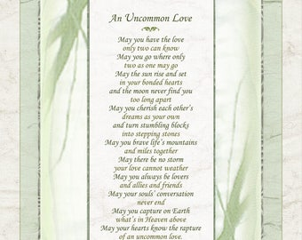 UNCOMMON LOVE - Wedding, Commitment Poem by Terah Cox