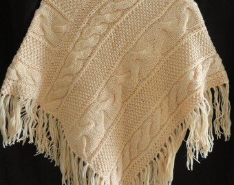 Hand knit poncho