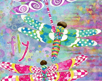 Dragonflies Fly Freely