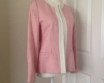 Vintage Patricia Roberts Striped Linen Jacket