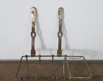 Antique Brass Soap Dish // Salvage