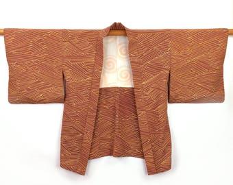 Vintage Kimono Jacket Silk Haori 1960s Boho Kimono Handmade Gift for Her Original Japanese Kimono