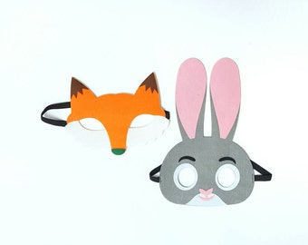 Zootopia - Birthday Party - Party Favors - Masks - Party Supply Decoration - Jody Hopps - Nick