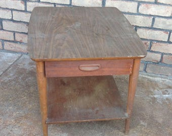 Lane Mid Century Side Table, Mid Century Modern Night Stand, Paint To Order,