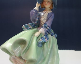 Vintage Royal Doulton, Top O' The Hill Lady Figurine, HN 1833