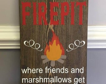 Welcome to our firepit sign