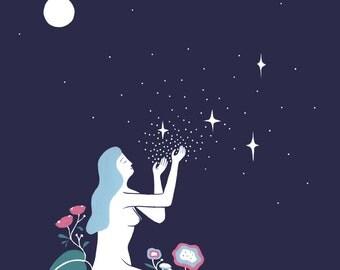 In The Night Garden Print